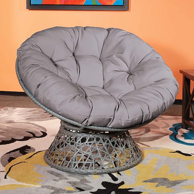 Papasan Chair with 360 Degree Swivel