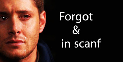 Forgot & in scanf