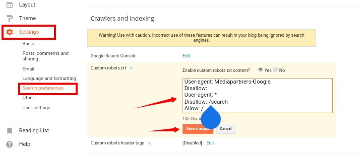 Custom Robots.txt file Blogger mein kaise add kare