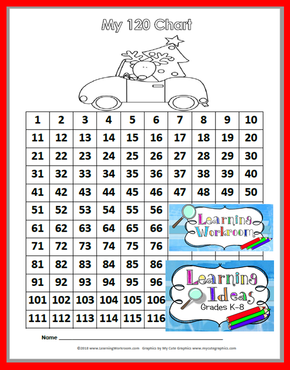 graphic regarding Free Printable 120 Chart named Discovering Designs - Grades K-8: November 2018