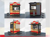 Gerobak Ayam Geprek - Booth Container Ayam Geprek - Jasa pembuatan Gerobak Container
