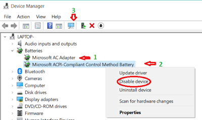 how to enabled battery icon on laptop if problem coming