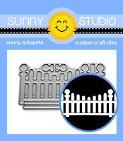 Sunny Studio Stamps Scalloped Fence Mini Metal Cutting Dies