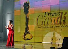 L'actriu Clara Segura, presentadora dels primers Premis Gaudí, l'any 2009. Fotografia: Fotogramas