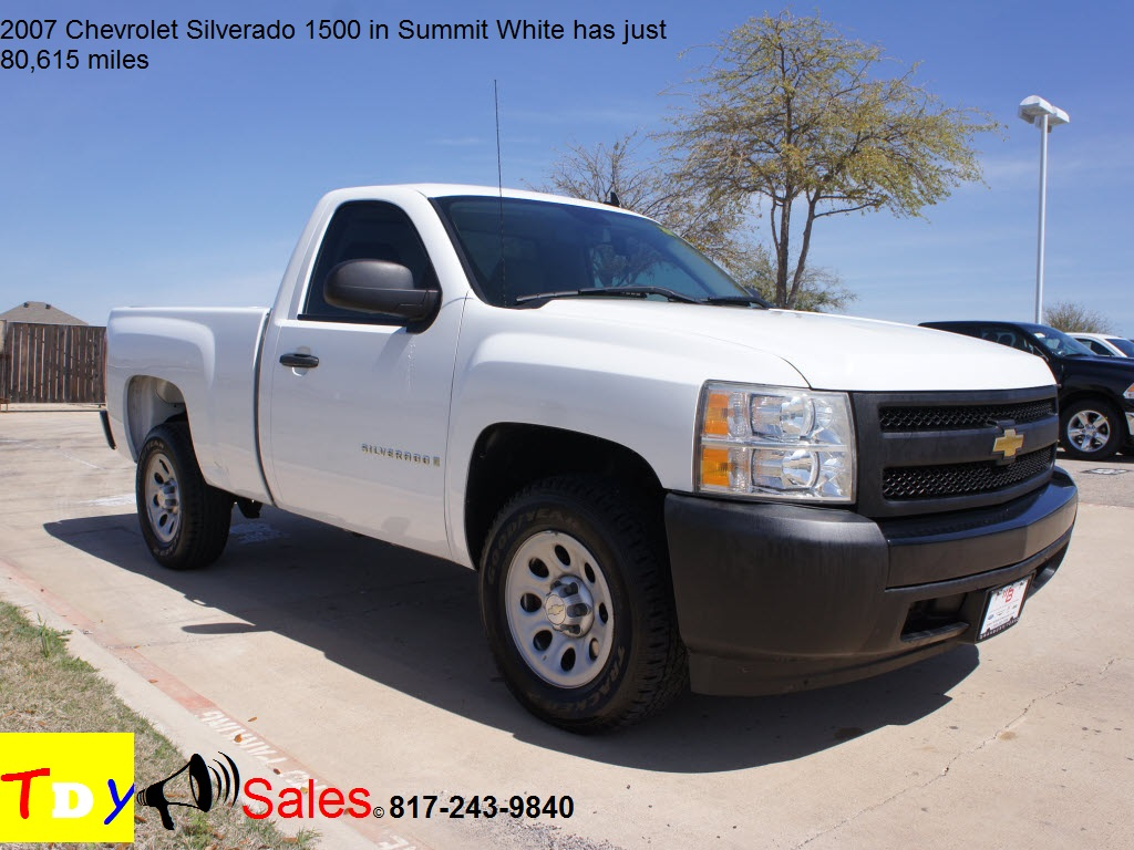 Jeep Dealership Dfw >> For Sale 2007 Chevrolet Silverado 1500 in Summit White has just 80,615 miles - TDY Sales ...