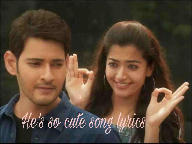He's so cute Lyrics - Madhu Priya