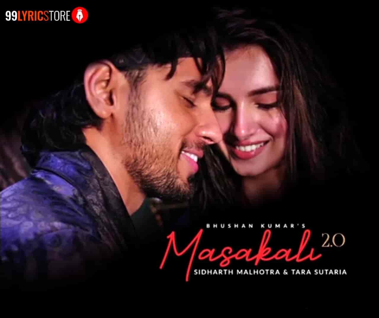 Masakali 2.0 Song Image By Sachet Tandon features Siddharth Malhotra and Tara Sutaria