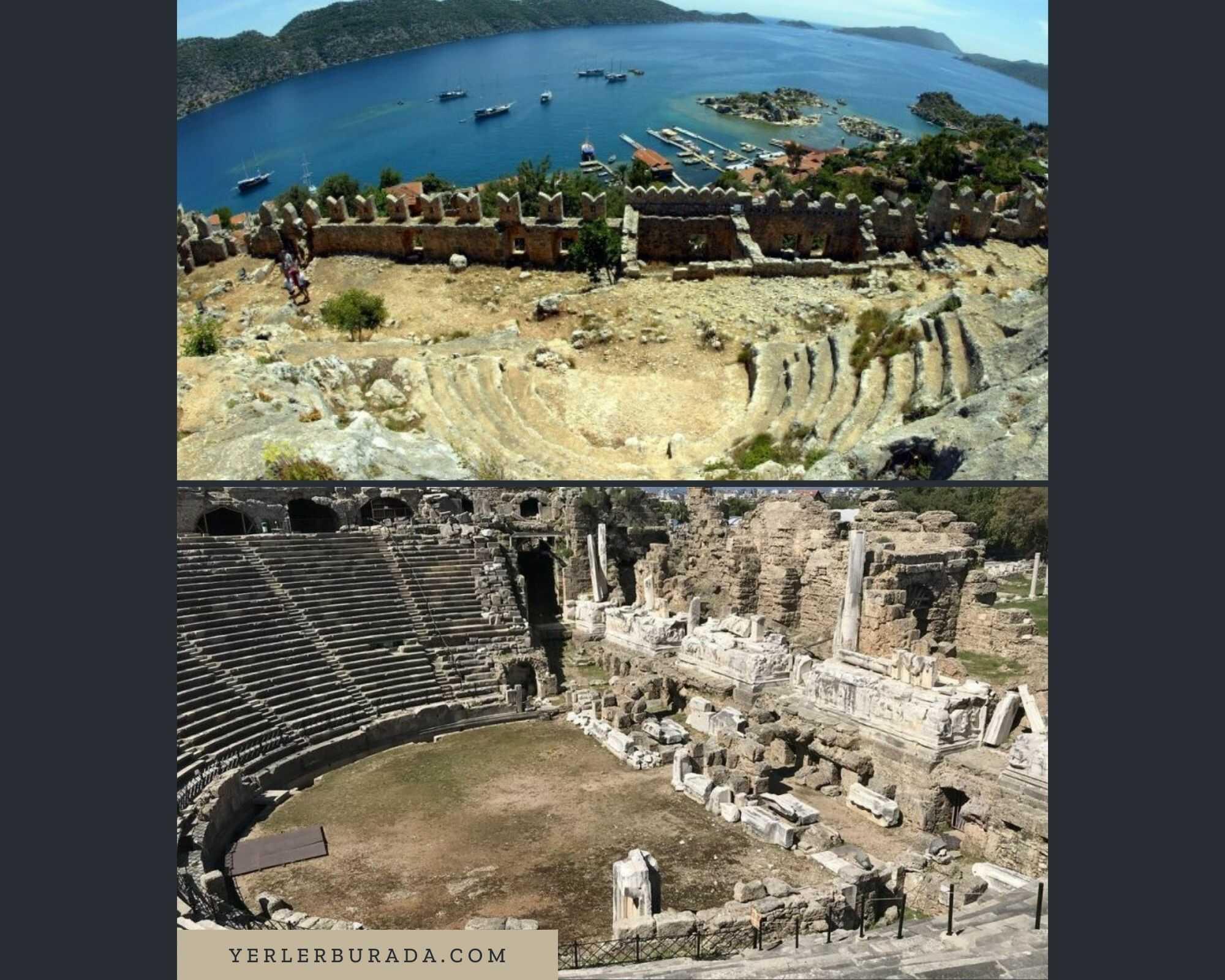 akdeniz gezilecek yerler side simena antik kenti