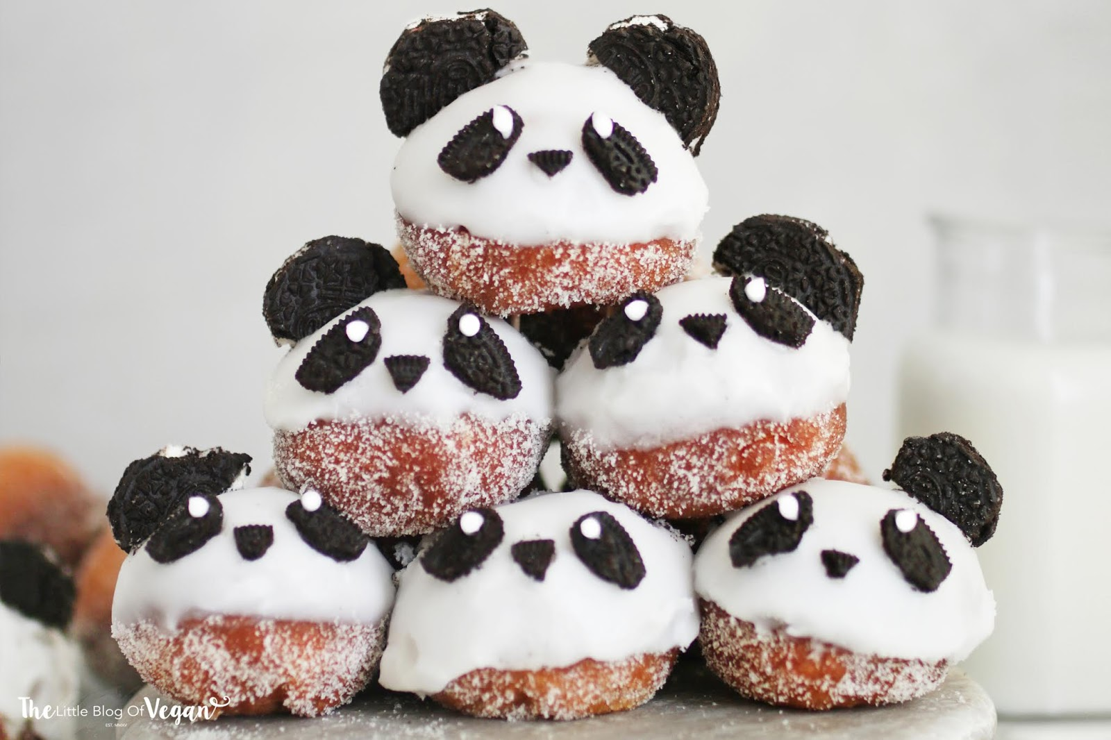 Panda doughnut holes recipe