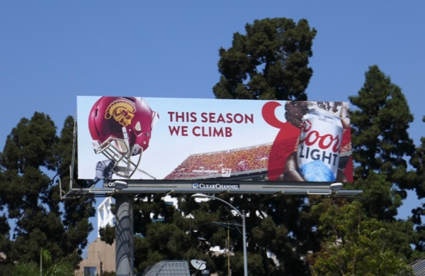 Coors Light USC Trojans This season we climb billboard