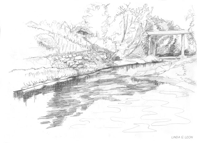 Ybbs an der Donau - geschetst op locatie door Linda S. Leon