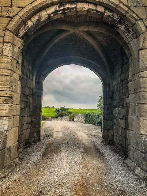 Steeton Hall Gateway - view through the gateway