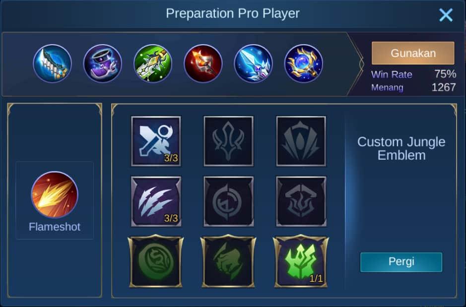 build item kimmy mobile legends (ML)