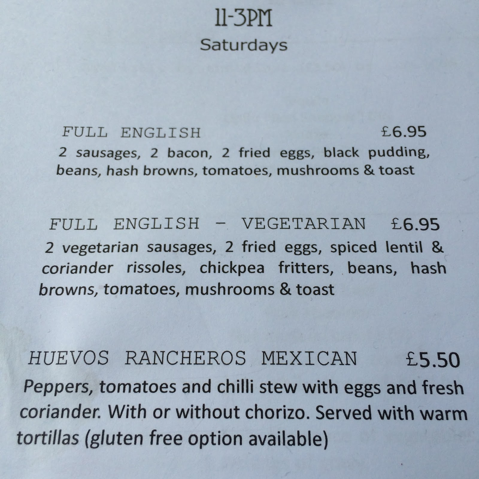 The Fry up Inspector: The Rosebery - Norwich