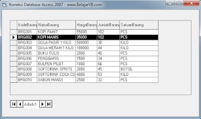 Cara Koneksi Access 2007 Dengan VB 6.0 - www.BelajarVB.com