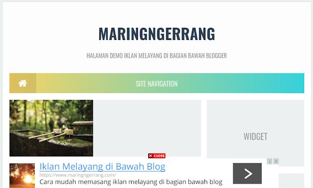 Memasang Iklan Melayang di Bagian Bawah Blog