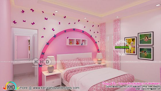 Kids bedroom interior