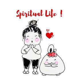 Ewafebri spiritual life  illustration