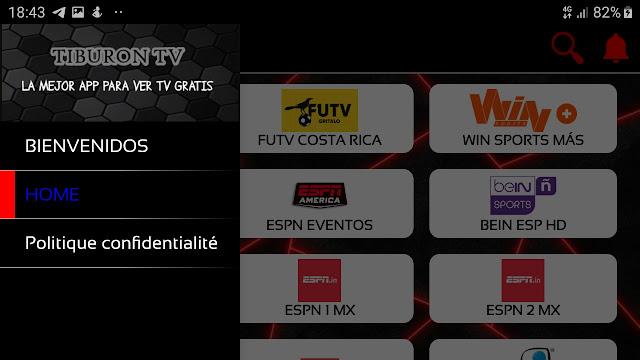 تحميل تطبيق Tiburon TV لمشاهدة القنوات المشفرة الاجنبية بجودة عالية 2020