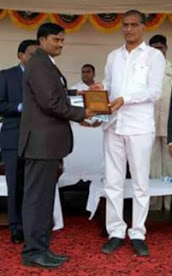 STATE LEVEL BEST LIBRARIAN AWARD FROM MINISTER T HARISH RAO GARU