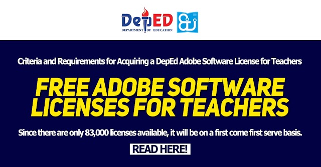Criteria and Requirements for Acquiring a DepEd Adobe Software License for Teachers