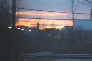 Sun Setting At The Leslie Spit Toronto