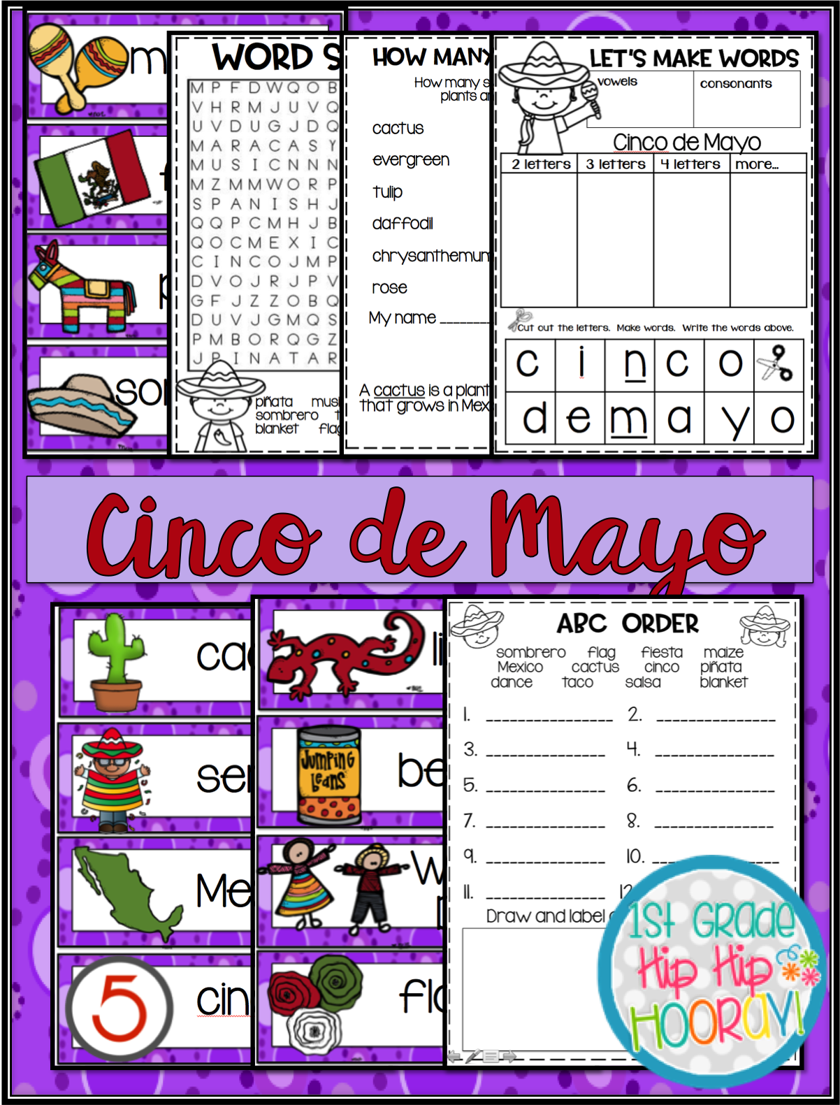 1st Grade Hip Hip Hooray Cinco De Mayo Per Pencil Or
