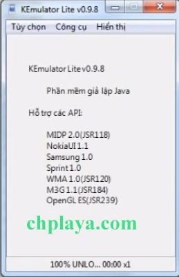 Kemulator, Download giả lập Java Kemulator (lite) v0.9.8 về máy tính f