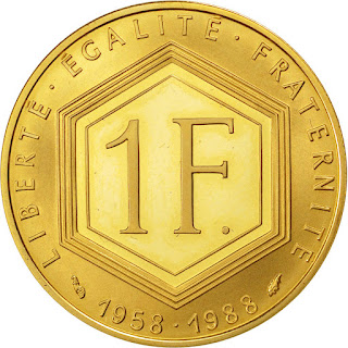French Gold Coins 1 Franc