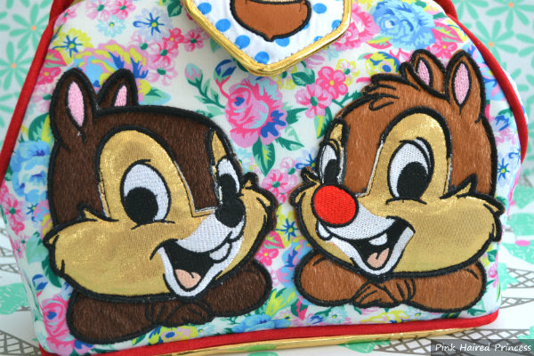 irregular choice disney applique chip n dale close up