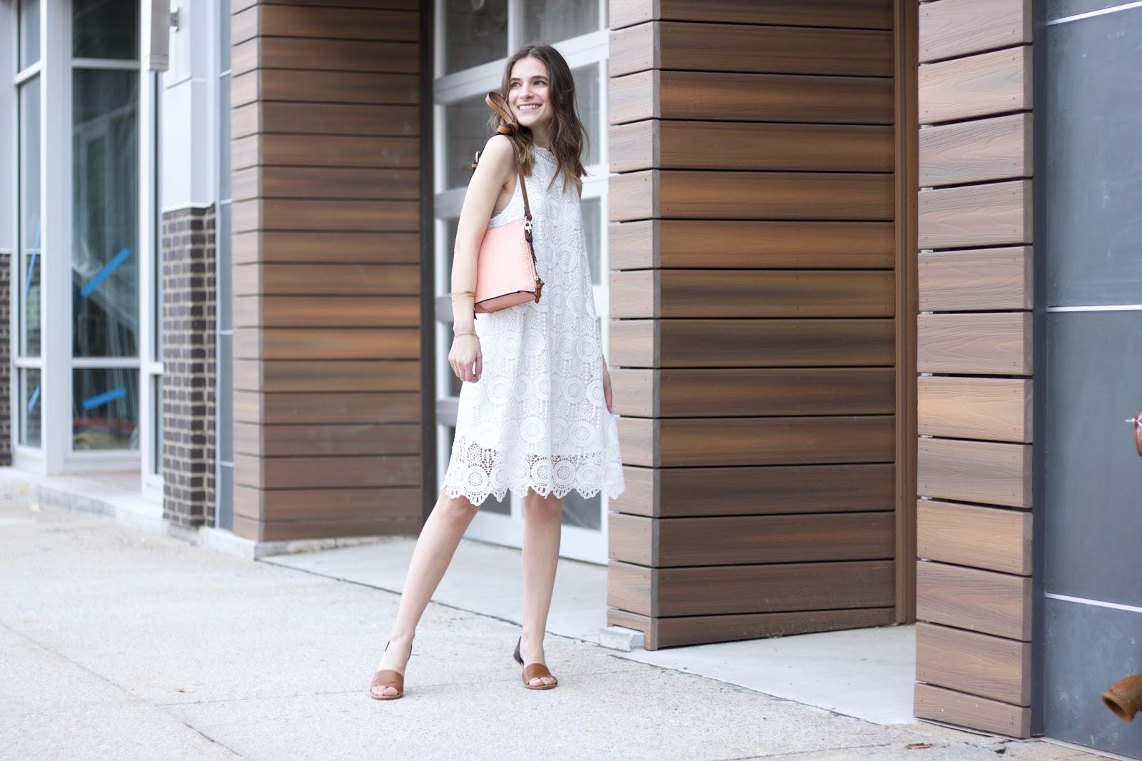 White Lace Entro Dress