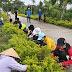 Chi đoàn Trường THCS Tân Hải chung tay vì môi trường, cảnh quan Xanh - Sạch - Đẹp, chỉnh trang giữ vững Nông thôn mới
