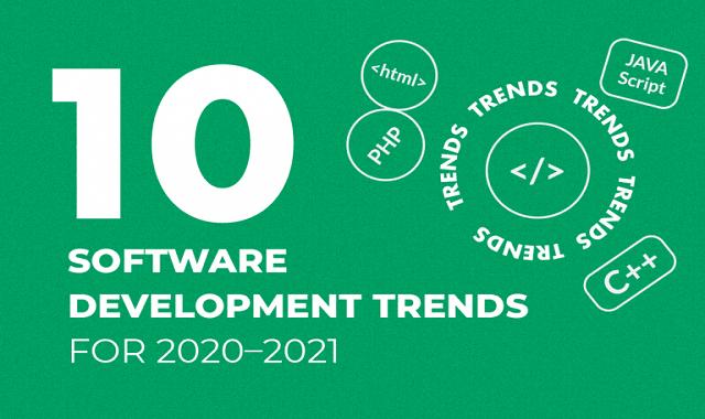 Ten Software Development Trends for 2020–2021 #infographic