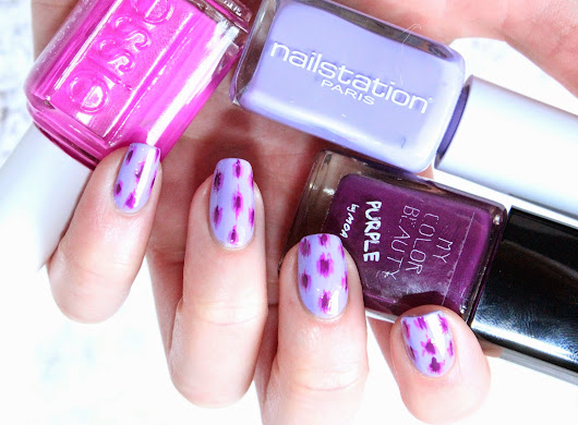 Ikat Nails et son camaïeu violet