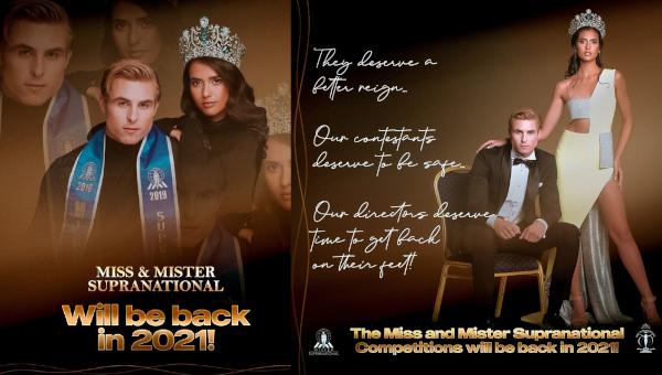 Organización Miss y Mister Supranational suspende certámenes