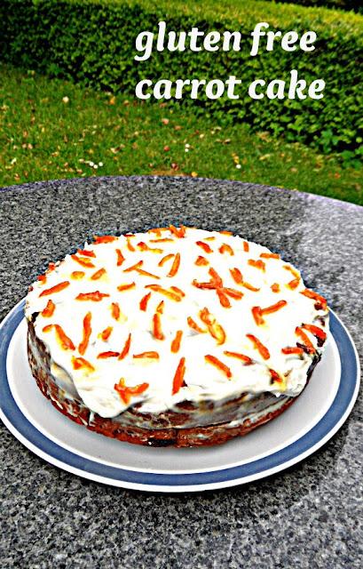 gluten free cake, carrot cake