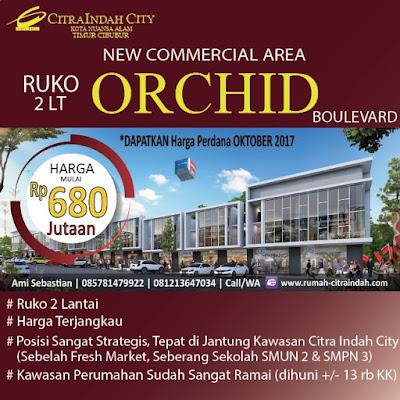 Ruko Orchid Boulevard Citra Indah City