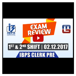 Exam Review with Cut Off | IBPS Clerk Pre 2017 | 2nd Dec -1st Shift & 2nd Shift