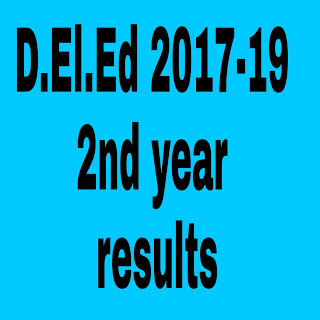 D.Ed -2017-19 Batch 2nd Year Examinations  Results .Dummy Marks lists available at