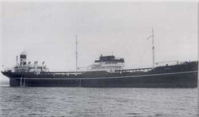 Norwegian tanker Nyholt, sunk by U-87 on 17 January 1942 worldwartwo.filminspector.com
