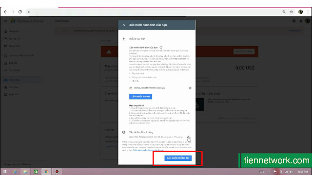 Hướng dẫn xác minh danh tính Google Adsense 2019 đảm bảo thành công 100%