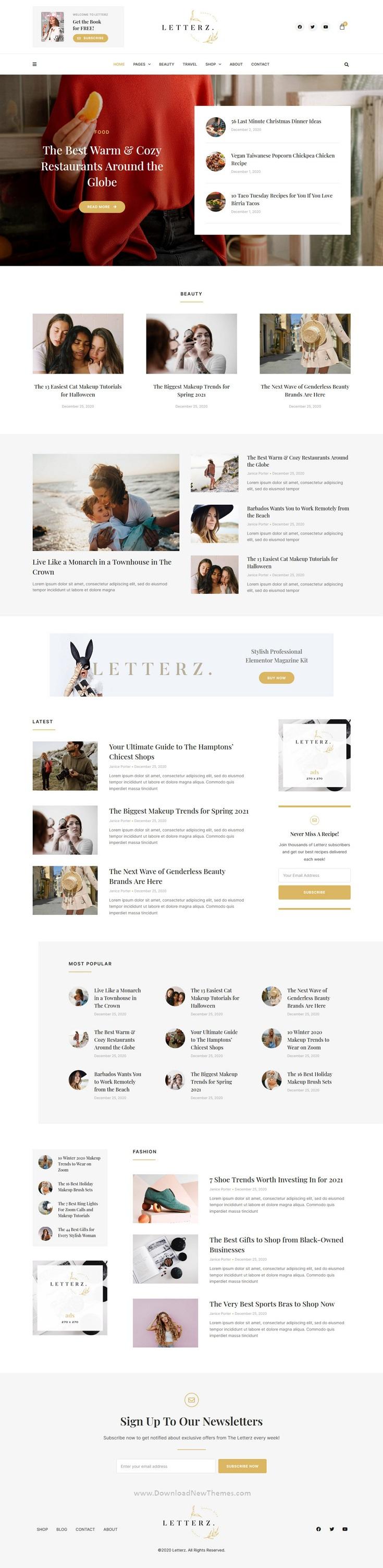 Blog Magazine Elementor Template Kit