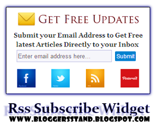 Add Rss Subscribe Widget For Blogger