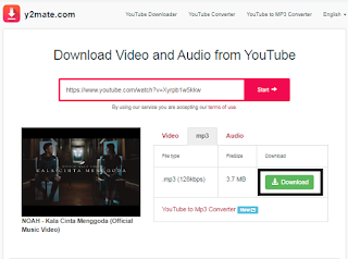 Cara Download Lagu MP3 Dari Youtube