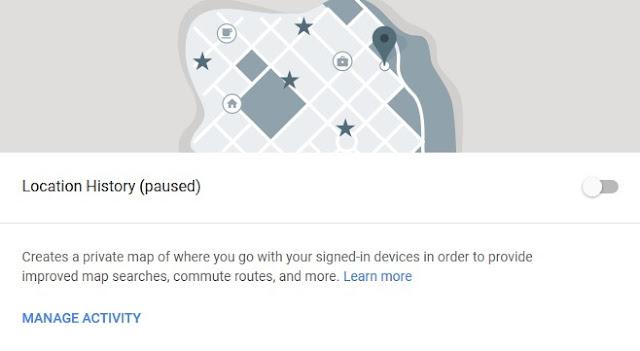 google location history turn off