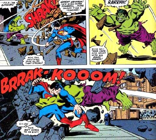 Hulk ataca a Superman
