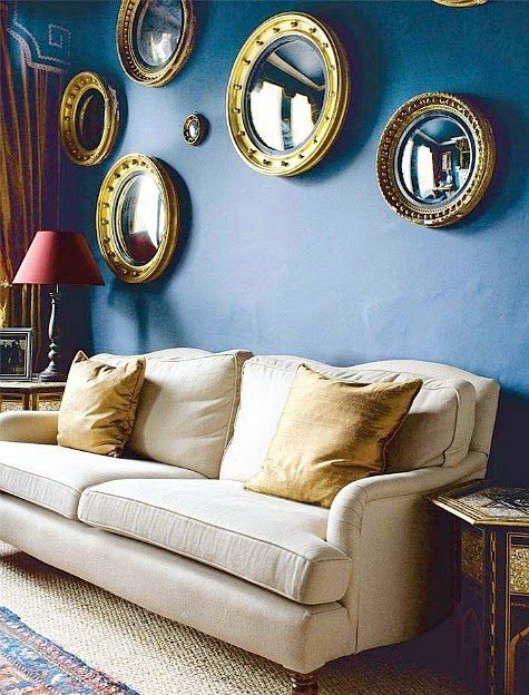 nautical porthole mirror wall