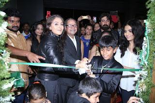 Actress Simran Stills in Black Leather Jacket at God Ka Shop Launch  0007.jpg
