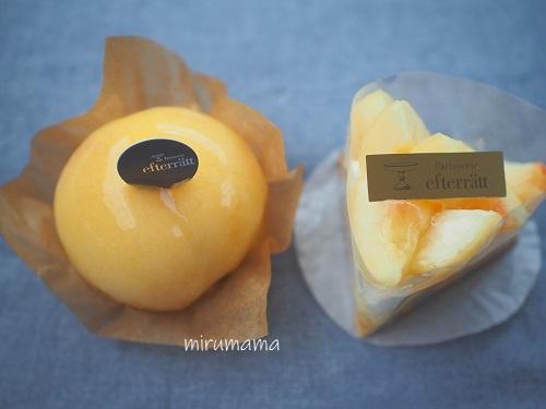 桃のケーキ2種
