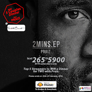 Win a dinner date for Two with Praiz this valentine